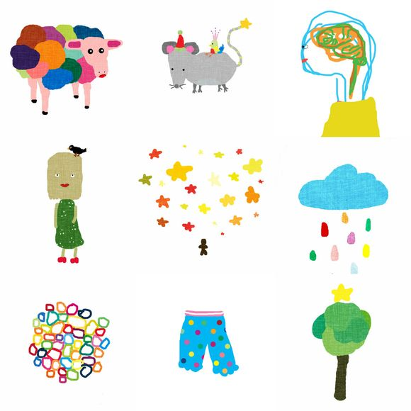 Collage cartoons