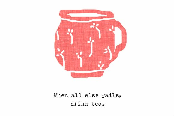 Drink tea overlay