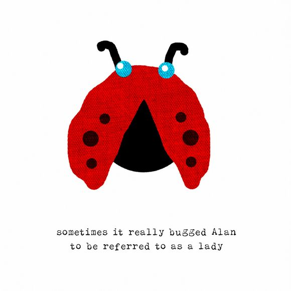 Alan ladybird fabric